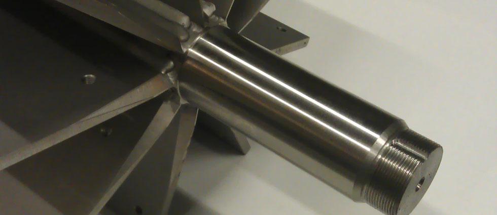 Voorbeeld metaalbewerking draaien, frezen, lassen metaal